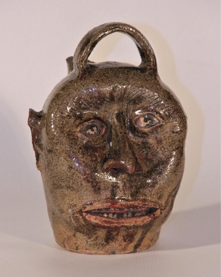 Exceptional Edgefield Stoneware Face Jug
