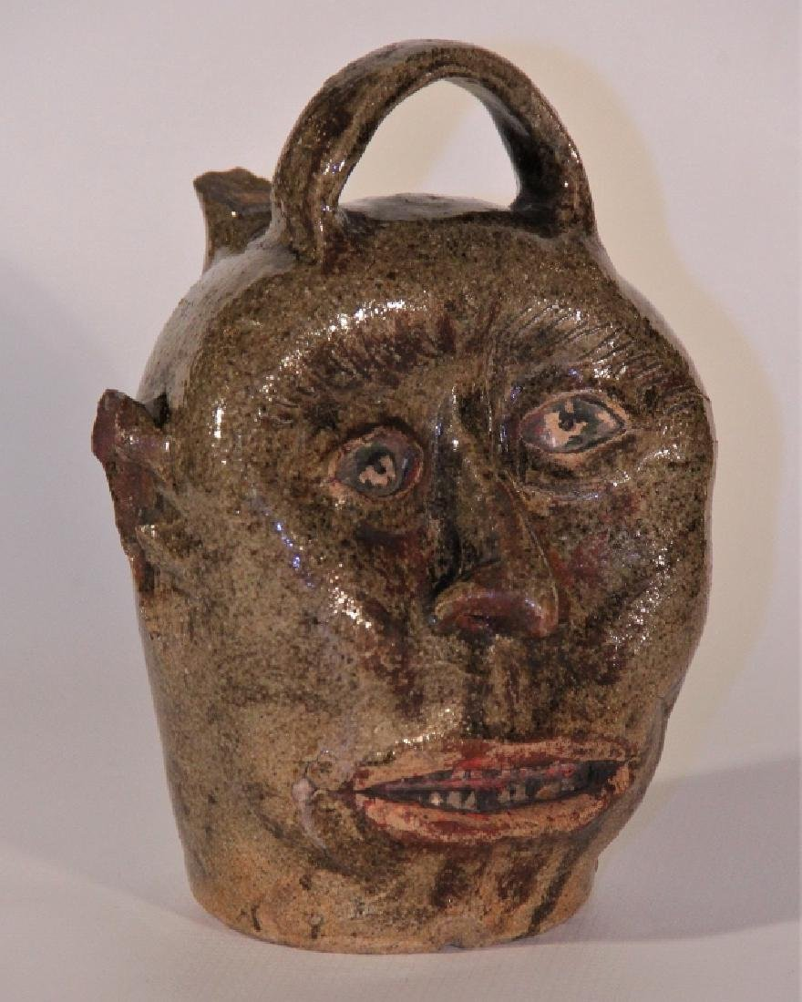 Exceptional Edgefield Stoneware Face Jug - 2
