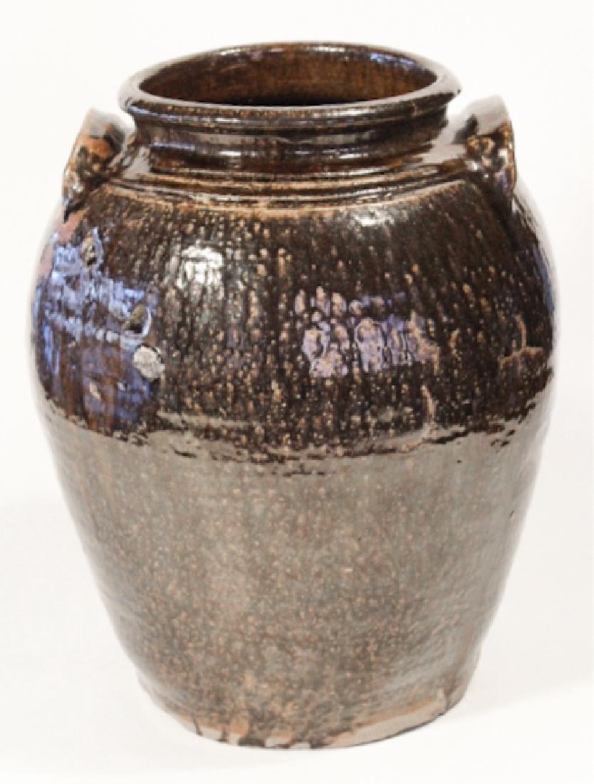 Southern Stoneware Slave Made Storage Jar - 3