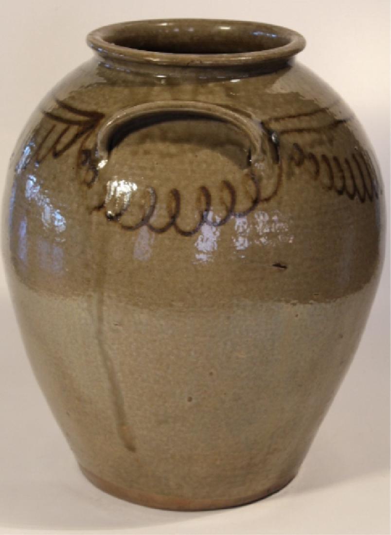 Handsome Decorated Southern Stoneware Storage Jar - 3