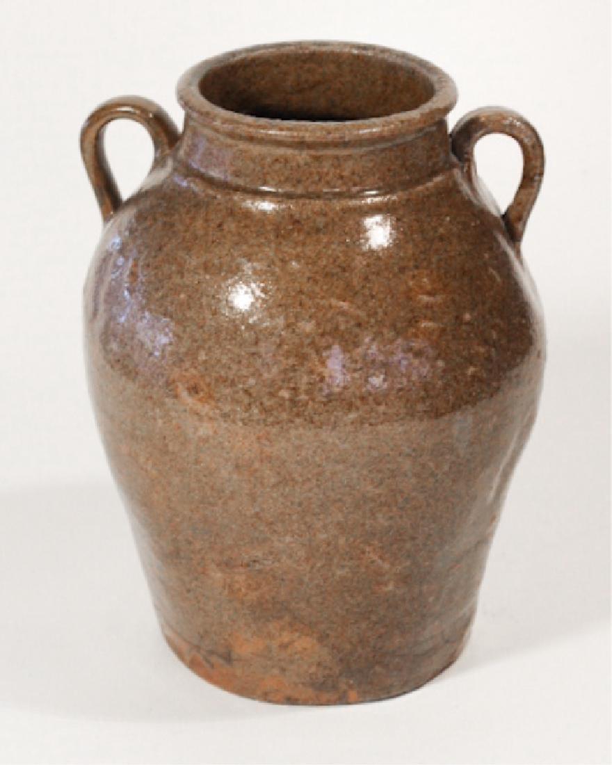 Early Southern Stoneware Stew Pot