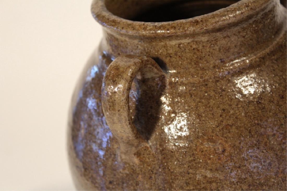 Early Southern Stoneware Stew Pot - 3