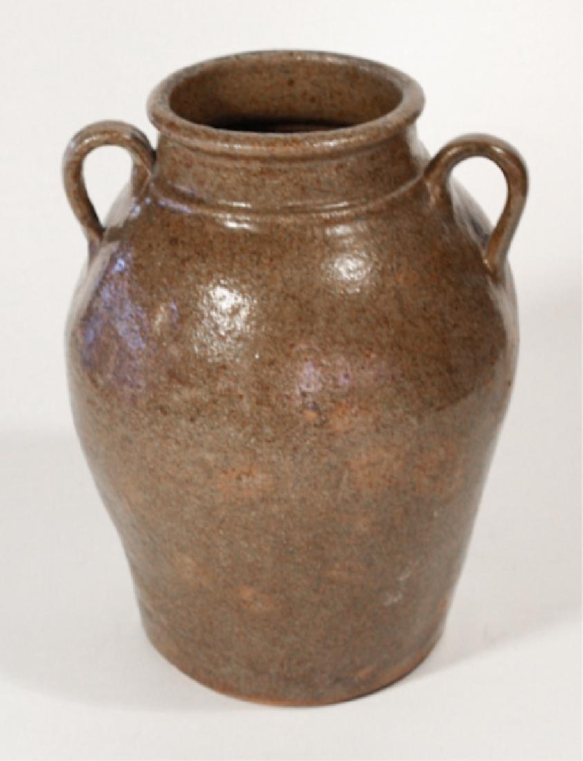 Early Southern Stoneware Stew Pot - 4