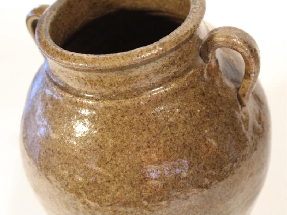 Early Southern Stoneware Stew Pot - 5