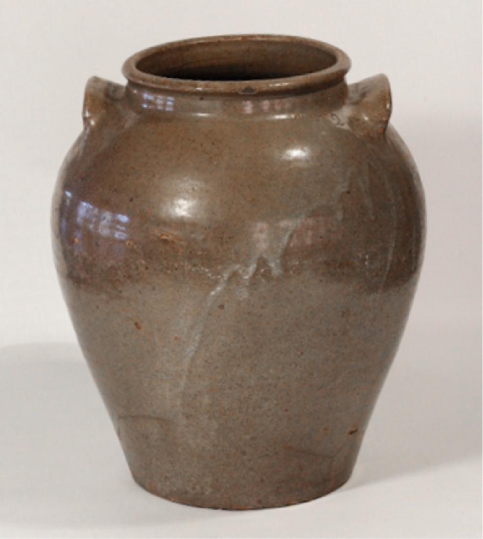 Early Southern Stoneware Storage Jar