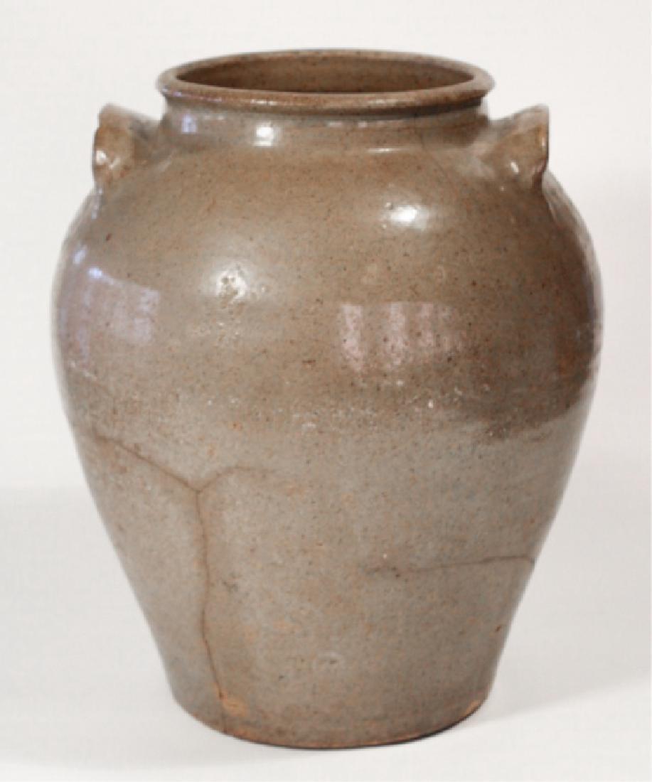 Early Southern Stoneware Storage Jar - 4