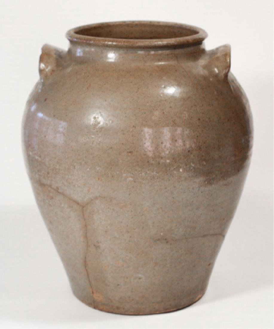 Early Southern Stoneware Storage Jar - 4