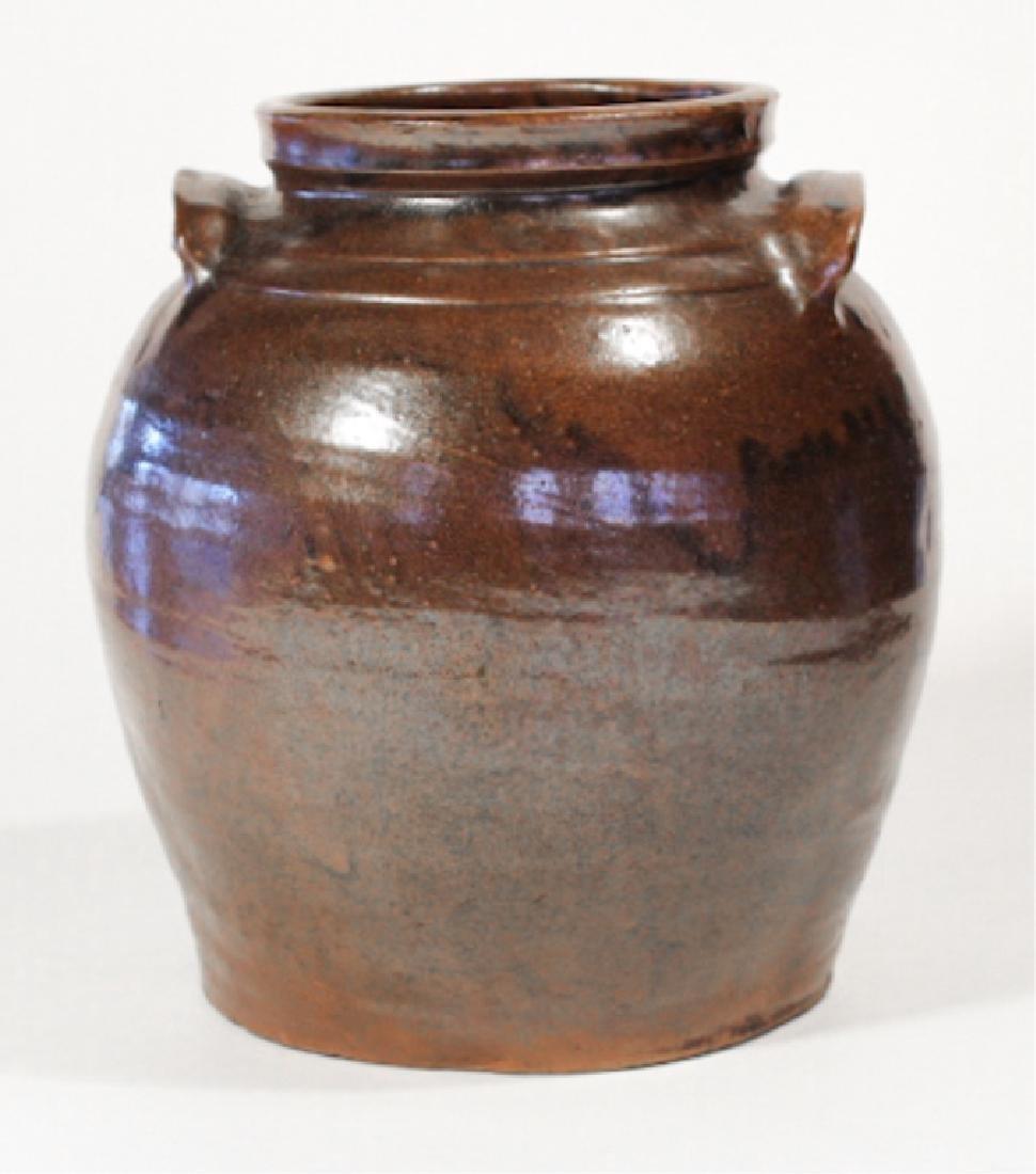 Southern Stoneware Slave Made Storage Jar