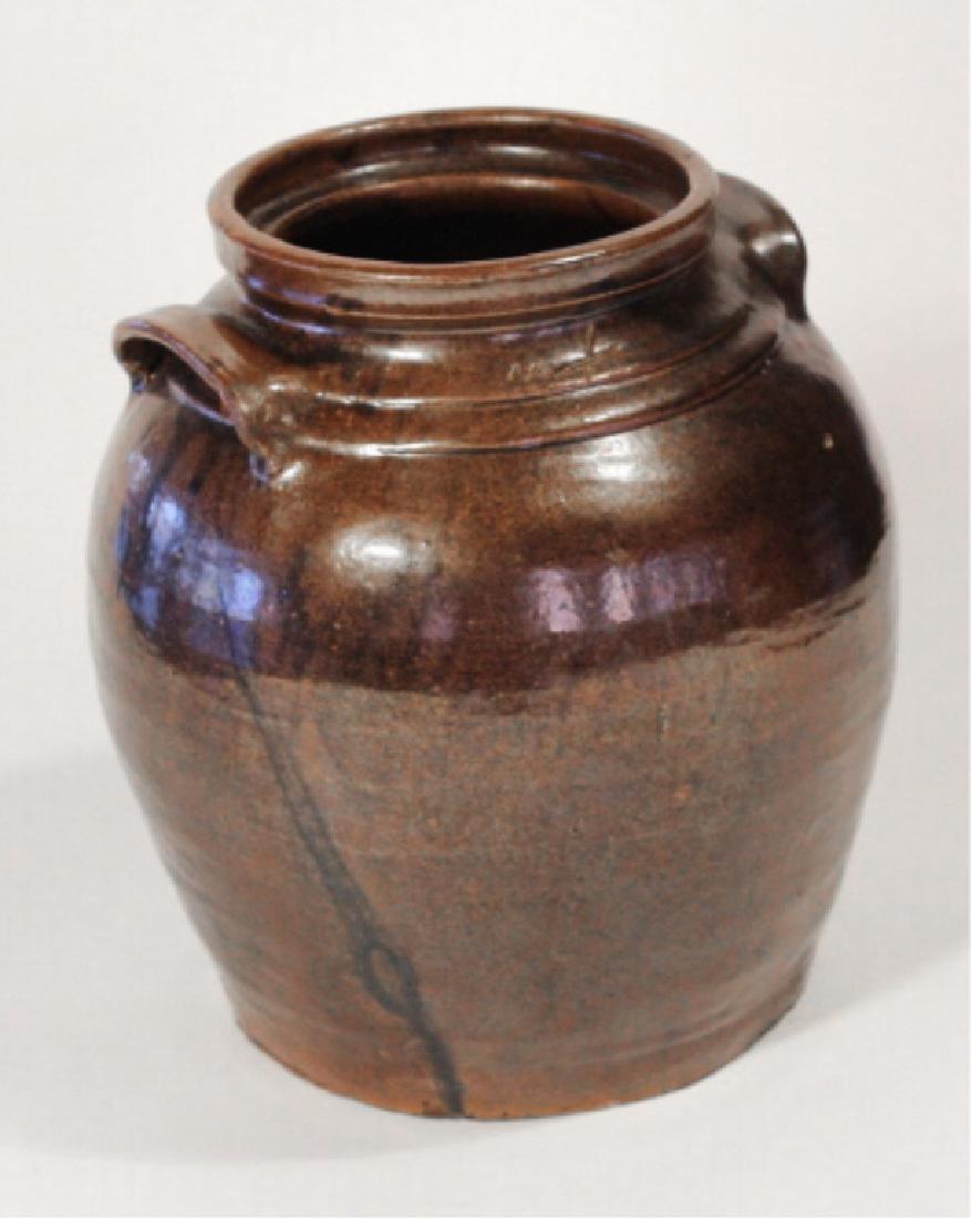 Southern Stoneware Slave Made Storage Jar - 2