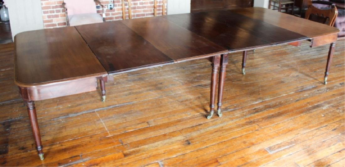Very Fine Large Neoclassical Mahogany Dining Table