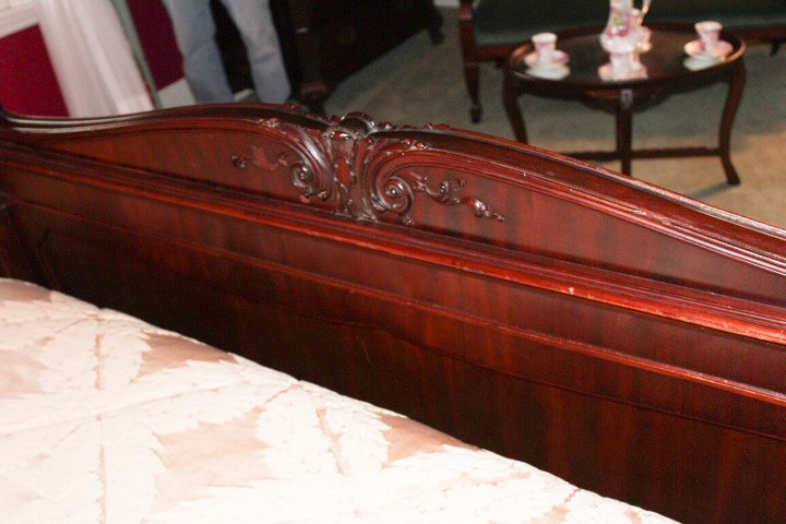 Chippendale Style Carved Mahogany Canopy Bed - 3