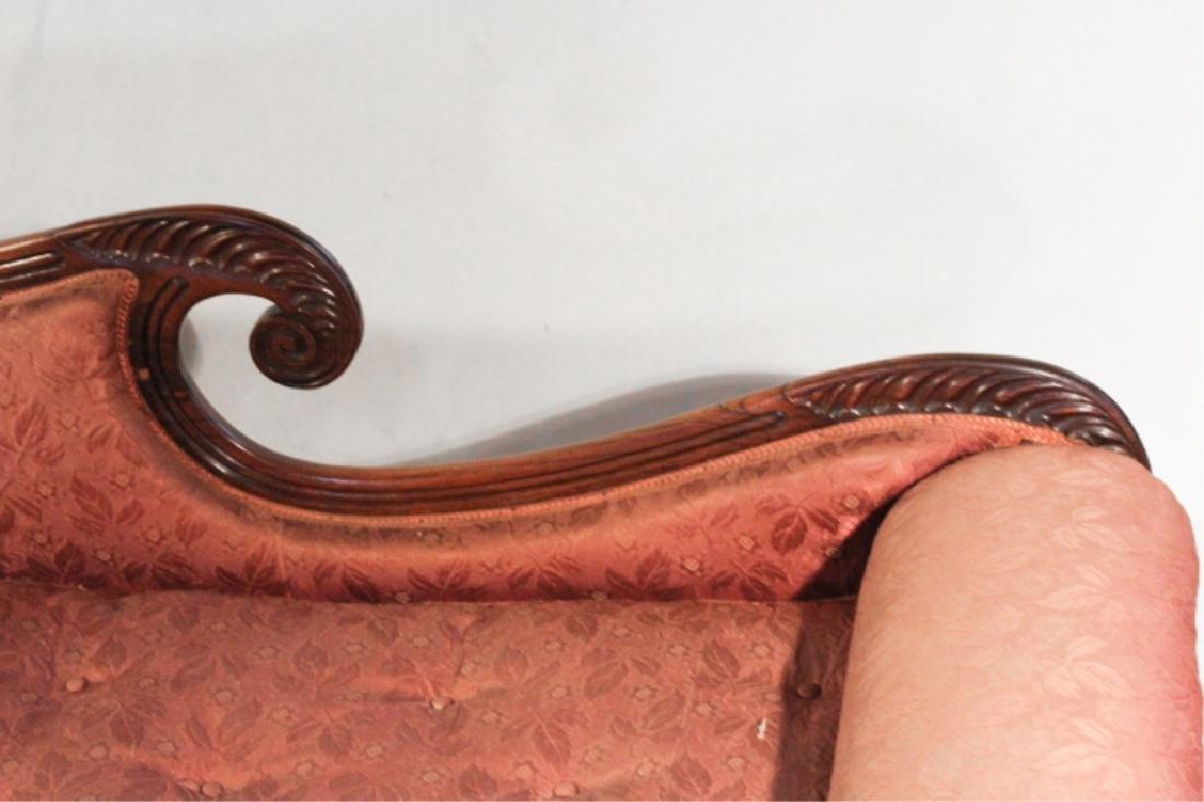Handsome Classical Carved Mahogany Recamier - 3