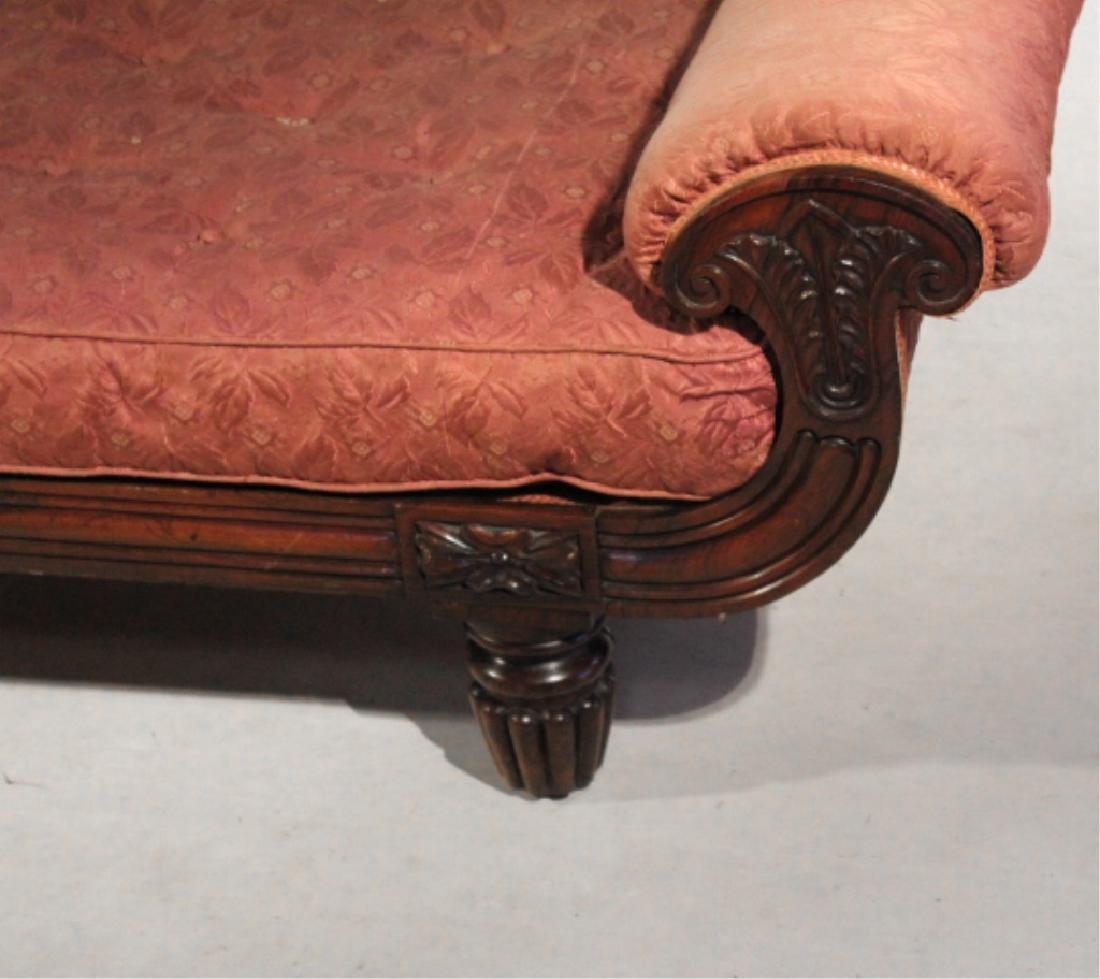 Handsome Classical Carved Mahogany Recamier - 4