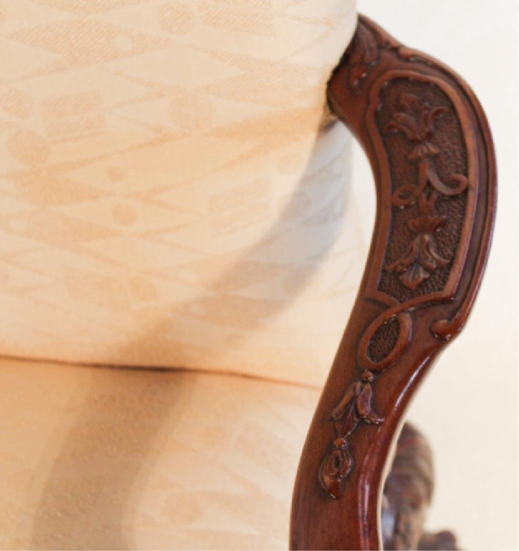 Pair Chippendale Style Carved Mahogany Arm Chairs - 5