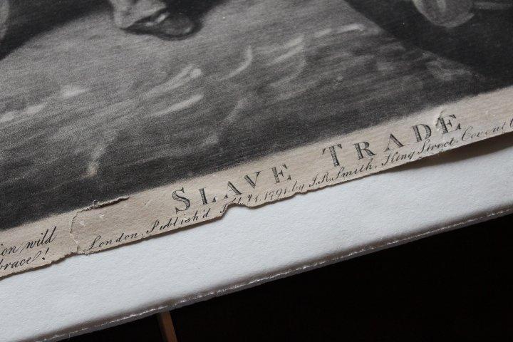 18th Century Mezzotint of Slave Trade - 4