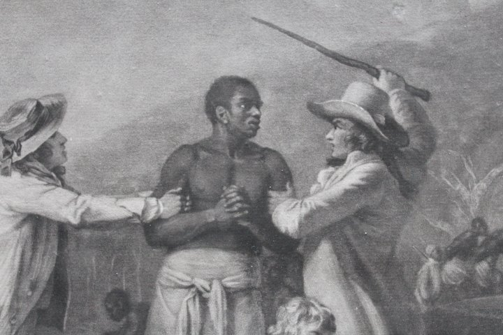 18th Century Mezzotint of Slave Trade - 8