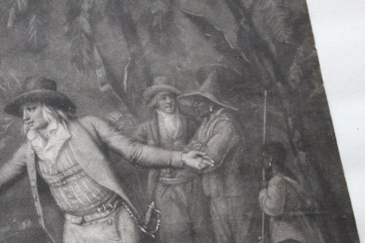 18th Century Mezzotint of Slave Trade - 9