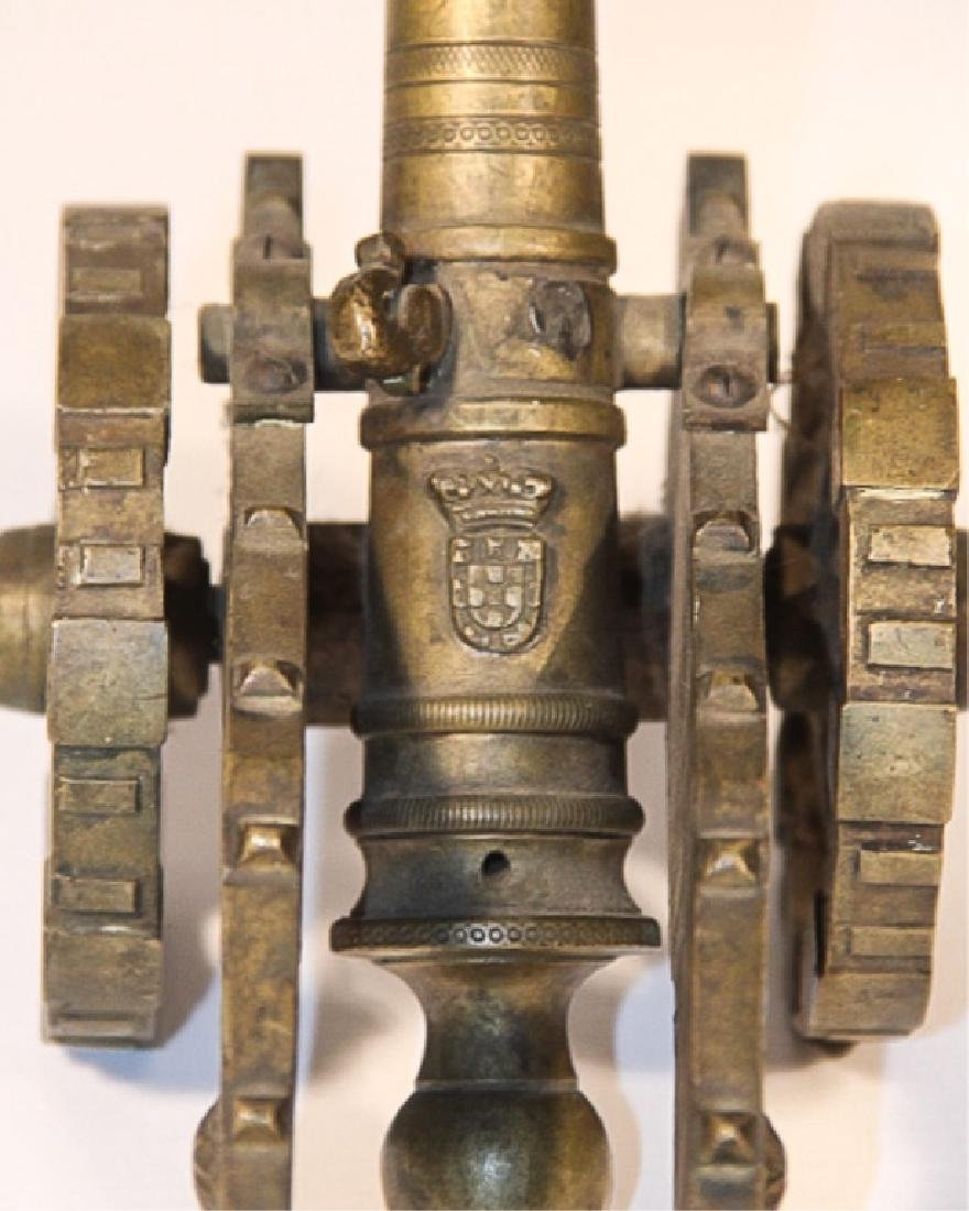 Antique Cast Brass Working Signal Cannon - 2