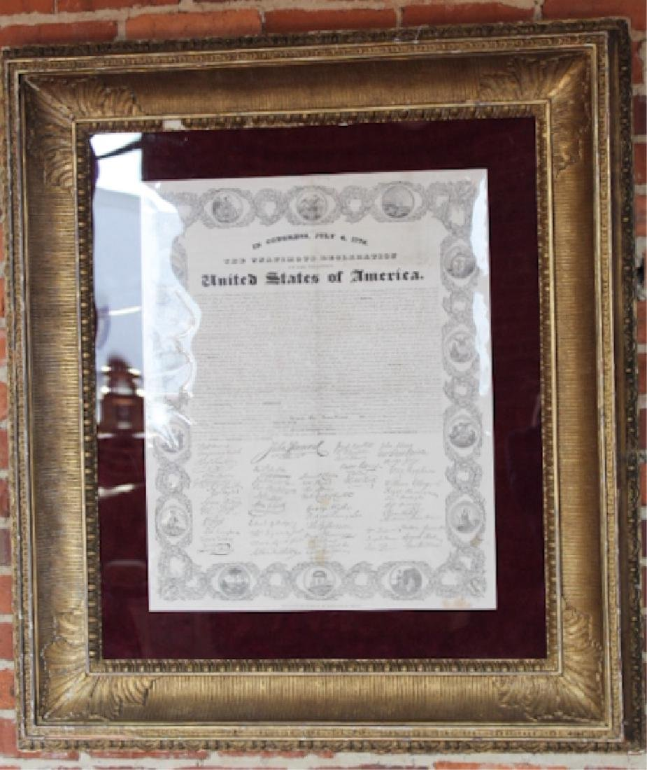 Early Boston Broadside Declaration of Independence