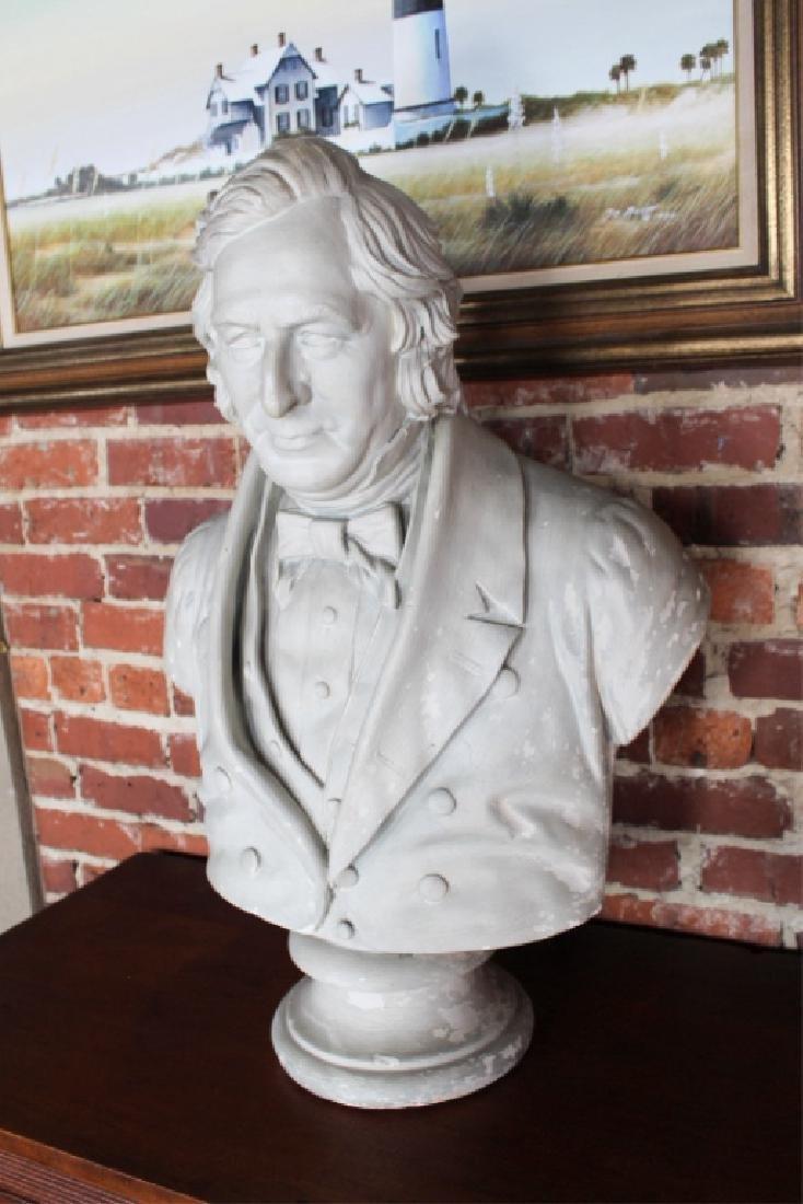 Rare Signed Life-size Plaster President Fillmore