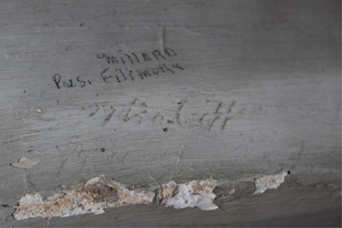 Rare Signed Life-size Plaster President Fillmore - 3