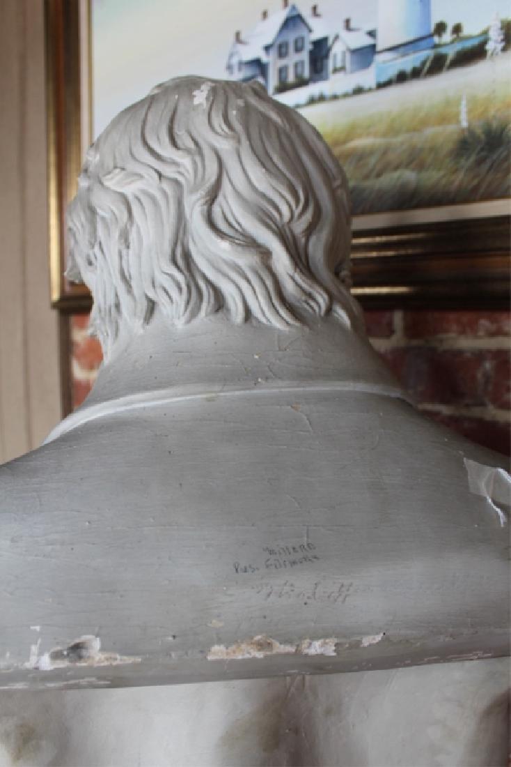 Rare Signed Life-size Plaster President Fillmore - 4