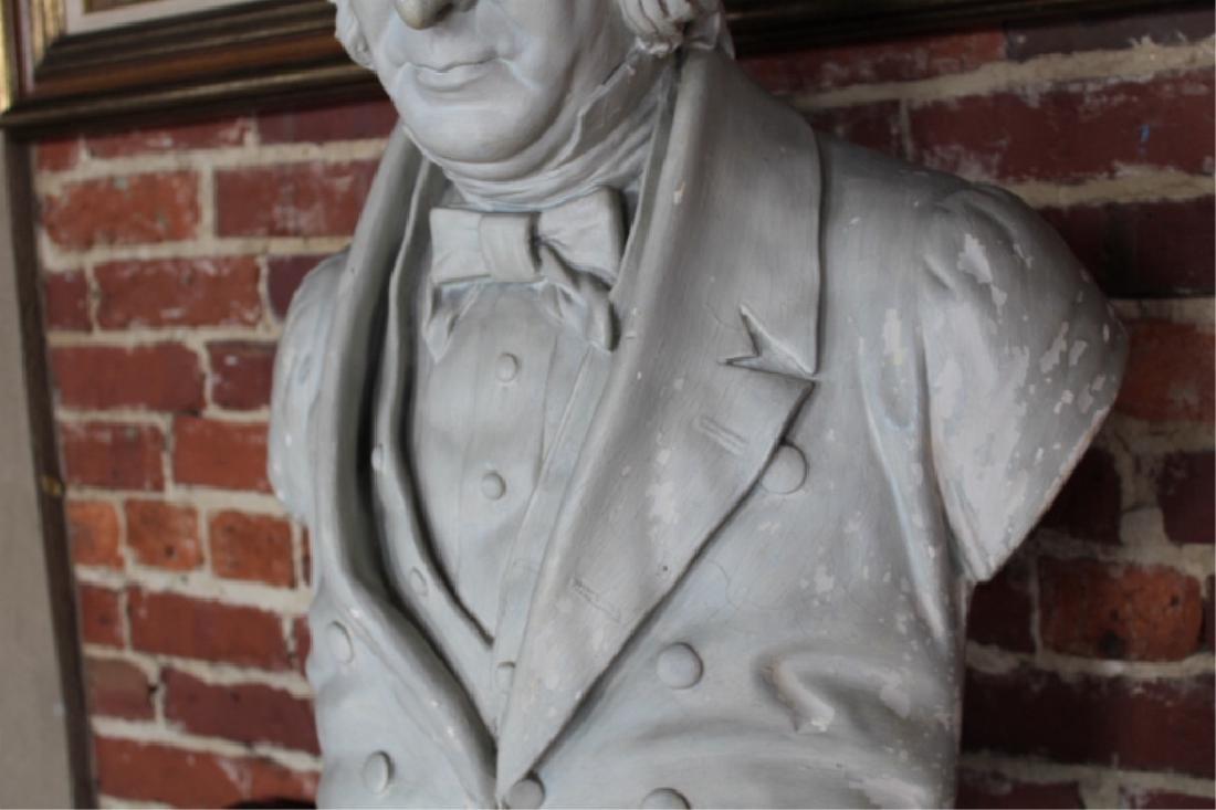 Rare Signed Life-size Plaster President Fillmore - 5