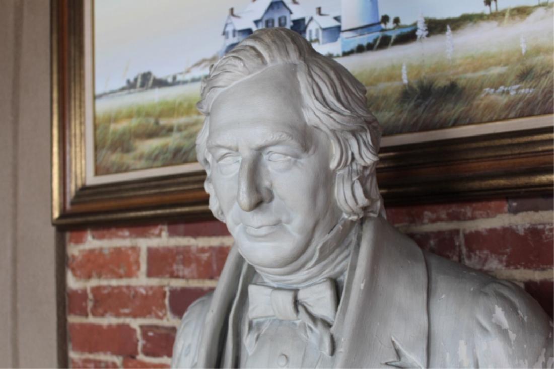 Rare Signed Life-size Plaster President Fillmore - 6
