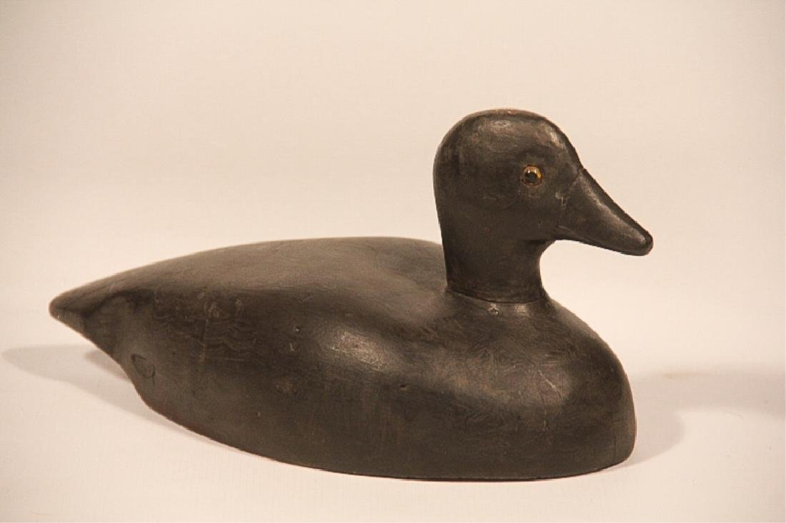 Handsome Antique Carved & Painted Coot Decoy