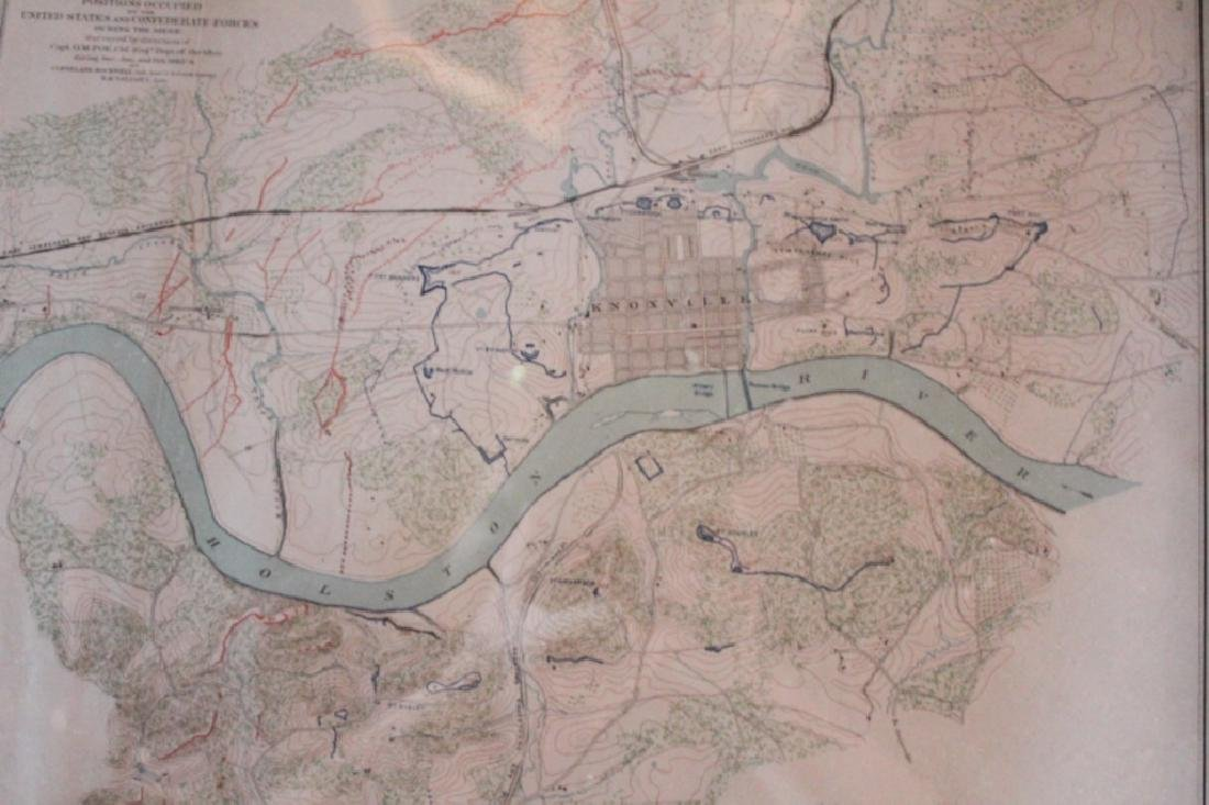 Julius Bien Litho Map Civil War Battle of Chickamauga