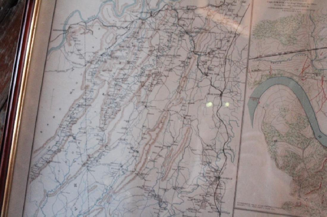 Julius Bien Litho Map Civil War Battle of Chickamauga - 3