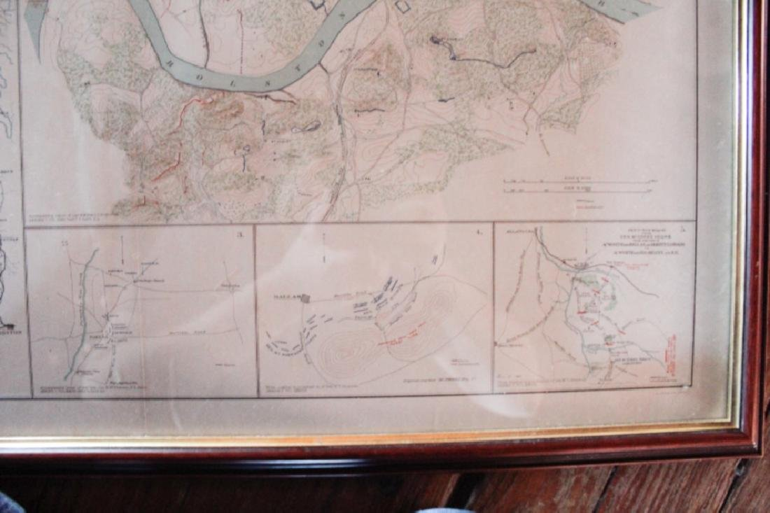 Julius Bien Litho Map Civil War Battle of Chickamauga - 4