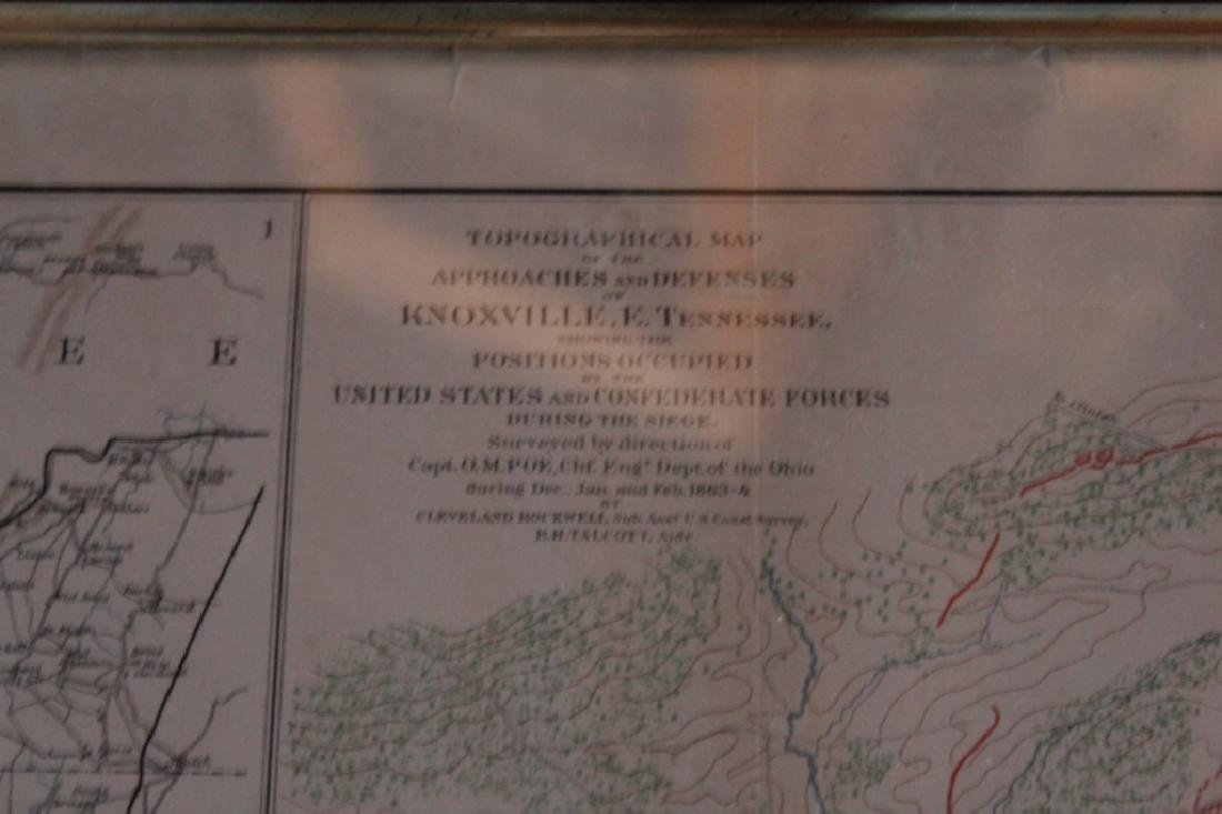 Julius Bien Litho Map Civil War Battle of Chickamauga - 5