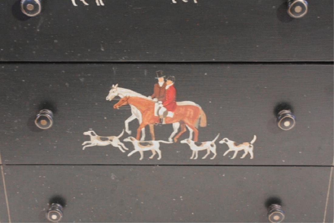 Custom Fox Hunt Hand Painted Sporting Chest - 3