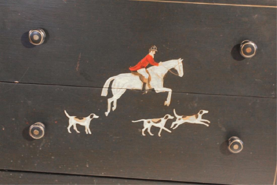 Custom Fox Hunt Hand Painted Sporting Chest - 4