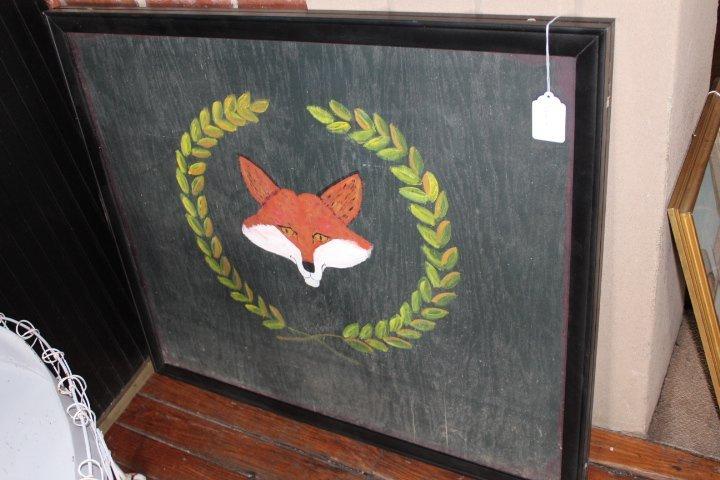 Vintage Painted Fox Hunt Fire Back or Tavern Sign - 2