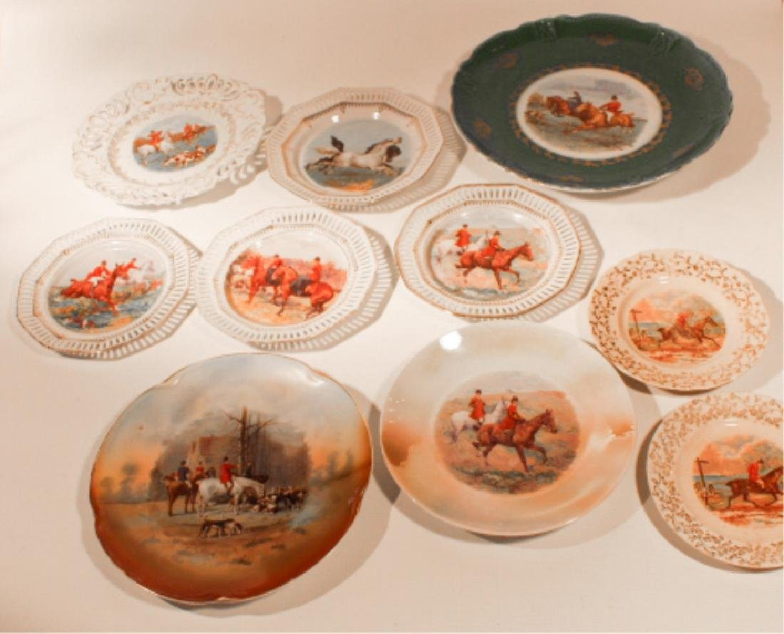 Collection Vintage Porcelain Sporting Dishes