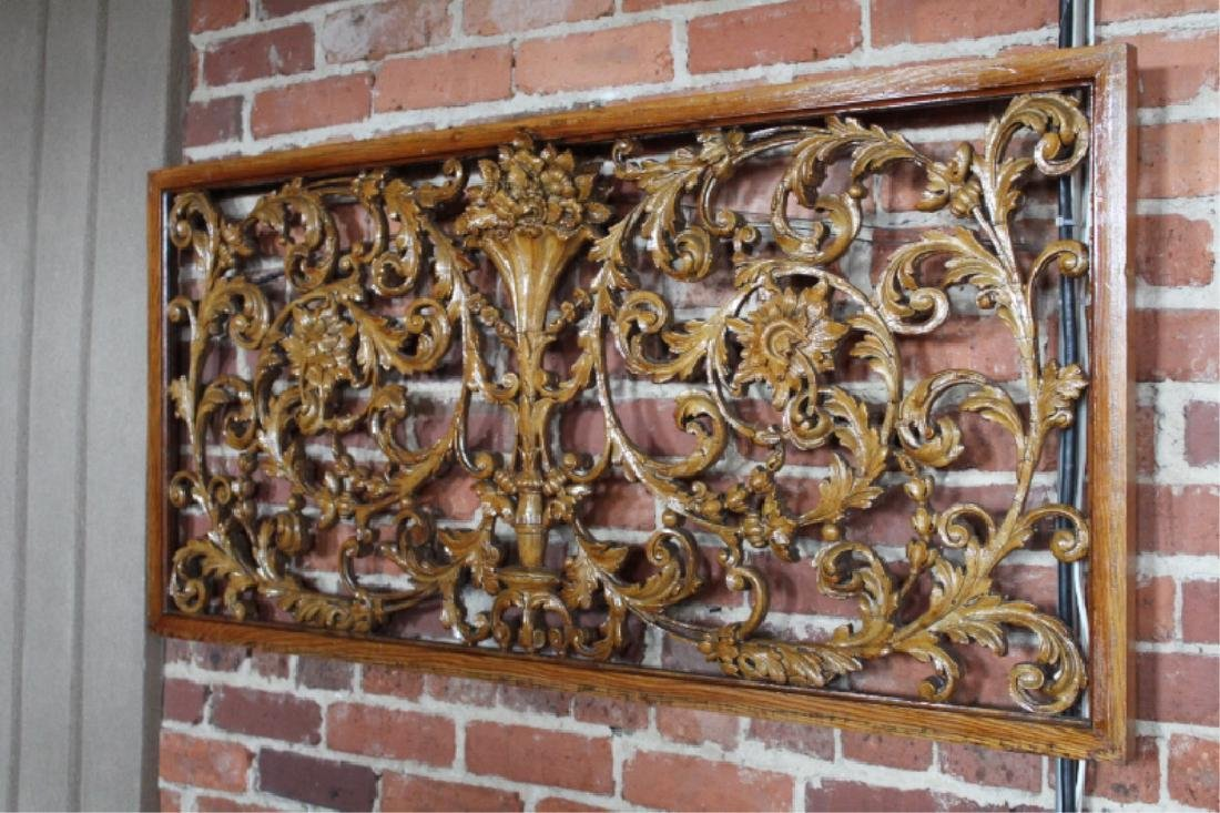 Carved Fruitwood Panels in the Adams Style