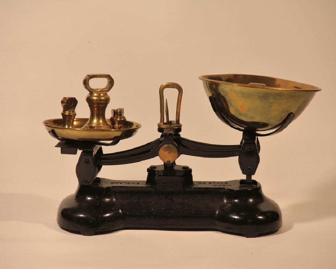 Handsome English Brass & Iron Libra Scale