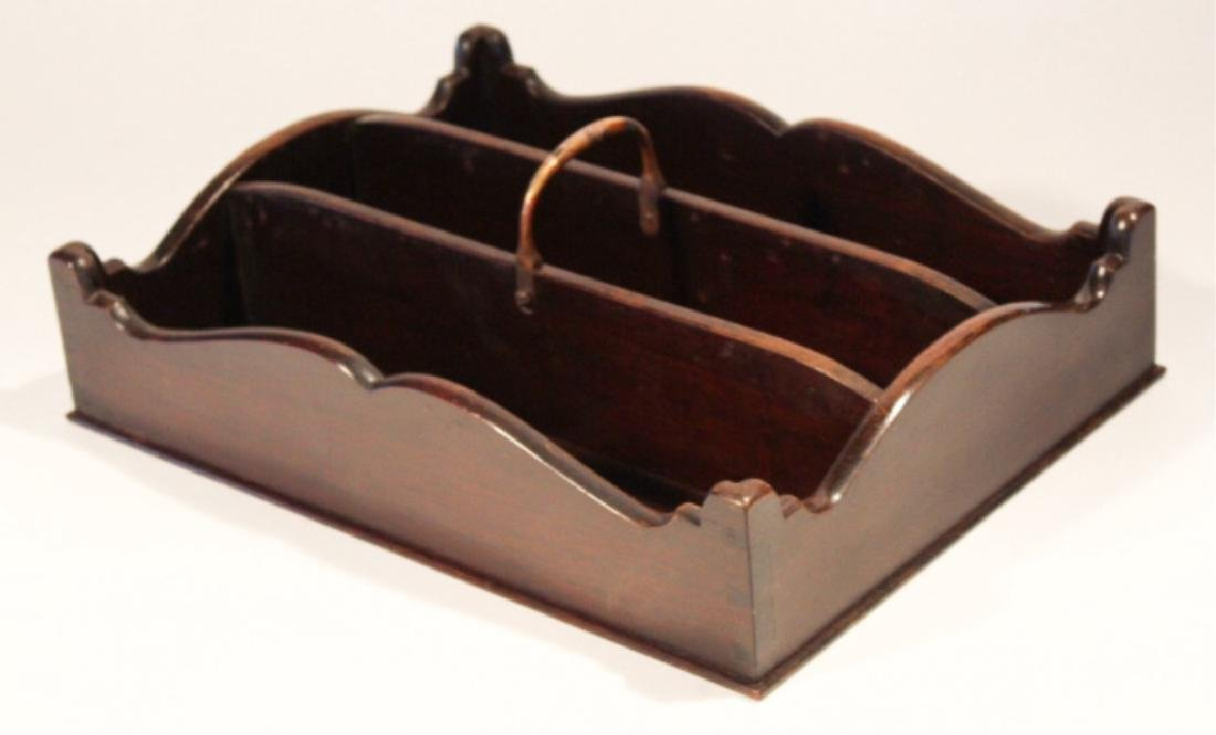 Chippendale Style Mahogany Tool or Knife Tray