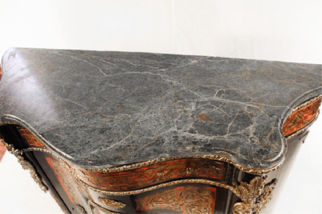 Napoleon III Marble Top Boule Server or Cabinet - 2