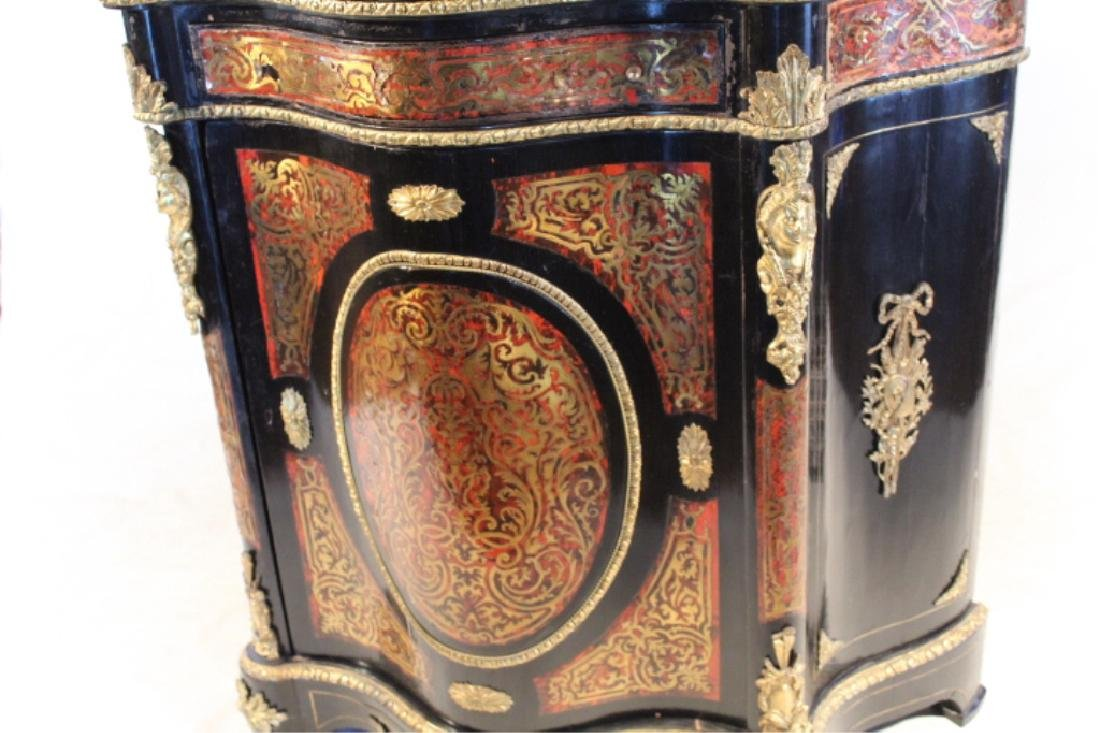 Napoleon III Marble Top Boule Server or Cabinet - 3