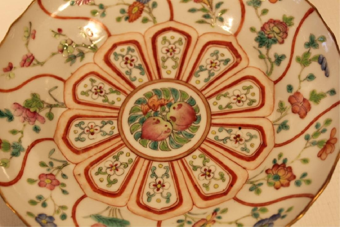 Two Antique Chinese Porcelain Famile Rose Dishes - 5