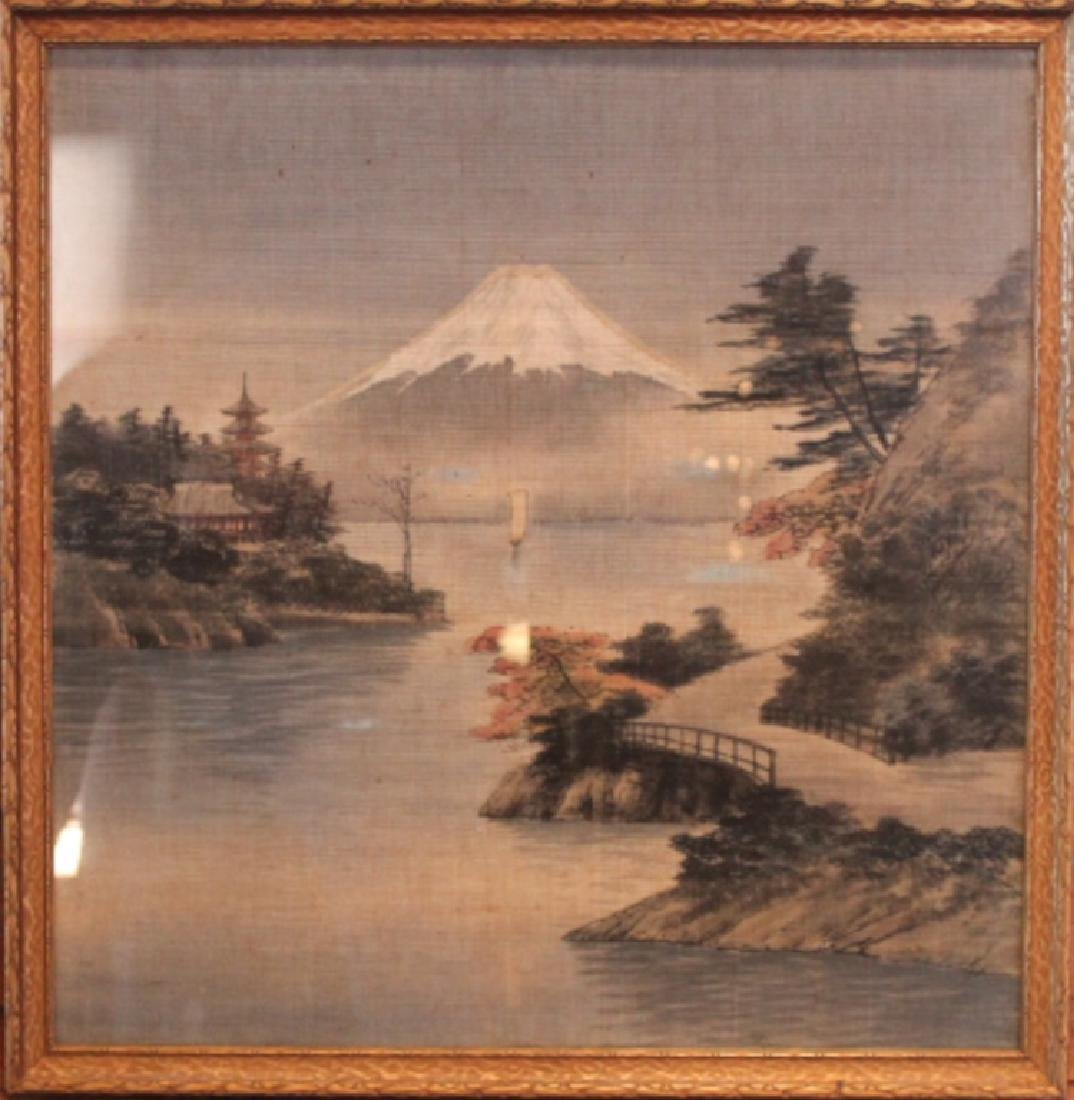 Antique Japanese Needlepoint Picture