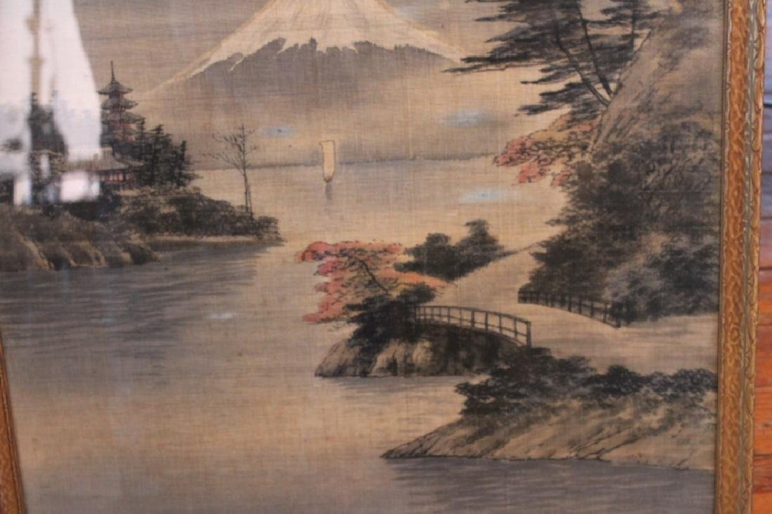 Antique Japanese Needlepoint Picture - 2