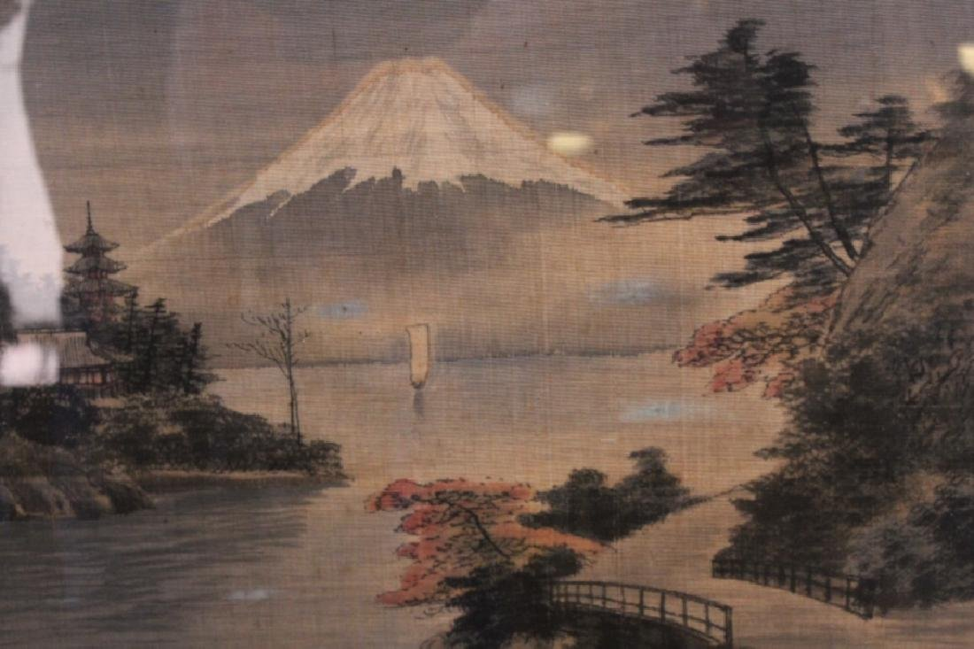 Antique Japanese Needlepoint Picture - 3