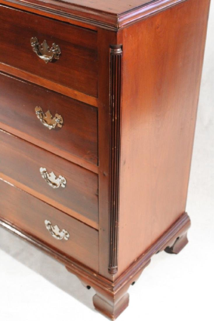 Chippendale Cherry Chest of Drawers - 2