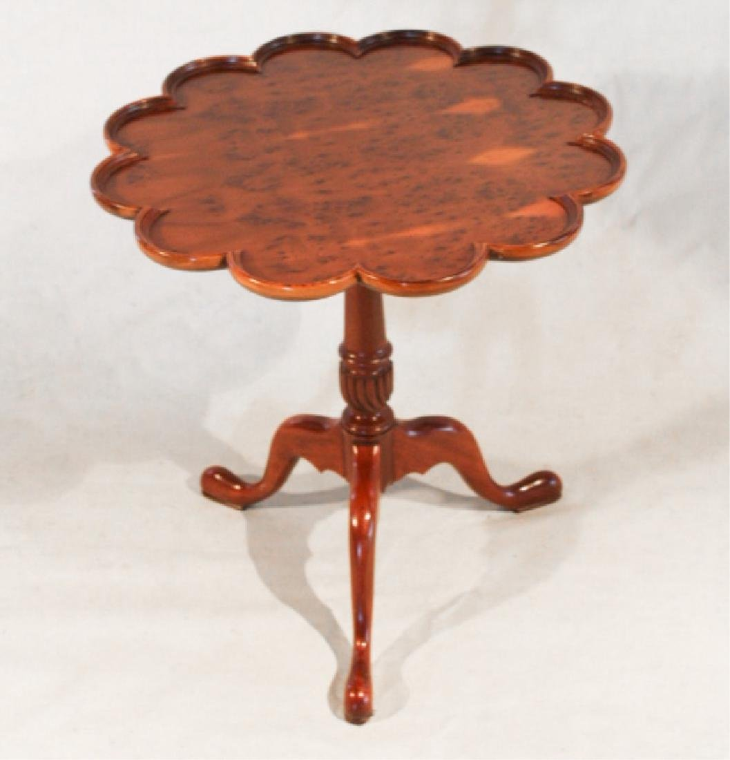 Bench Made Maple Queen Anne Style Pie Crust Table