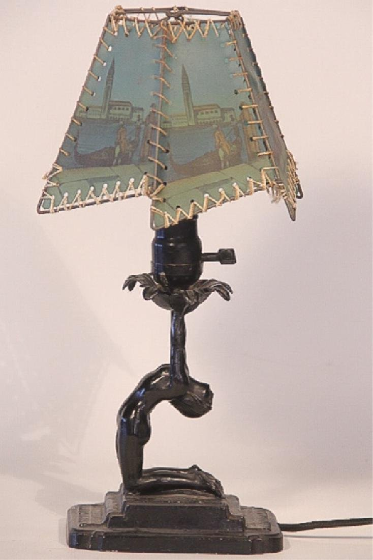 Art Deco Arrow Metal Desk Lamp
