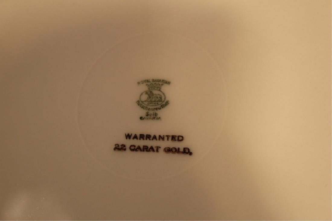 Twelve 22 Kt Gilt Royal Bavarian Dinner Plates - 2